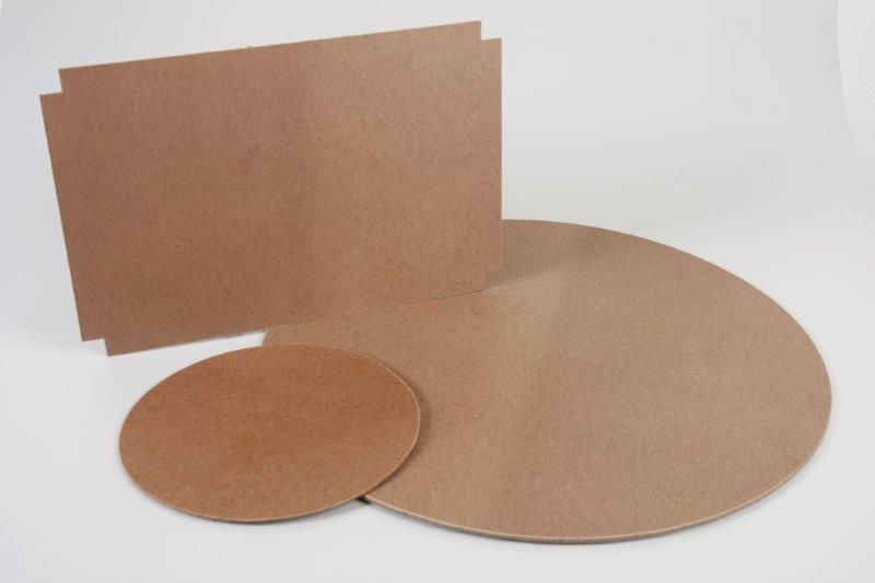 Chapa de fibra de madeira cortada
